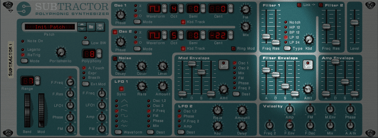 Subtractor Synth One Filter