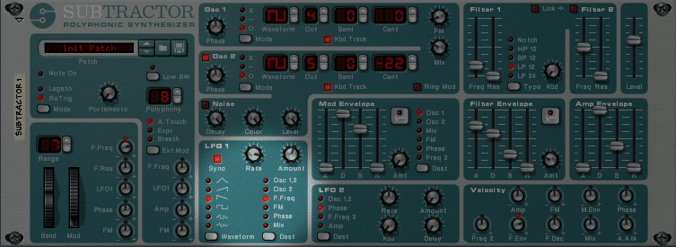 Subtractor Synth One LFO