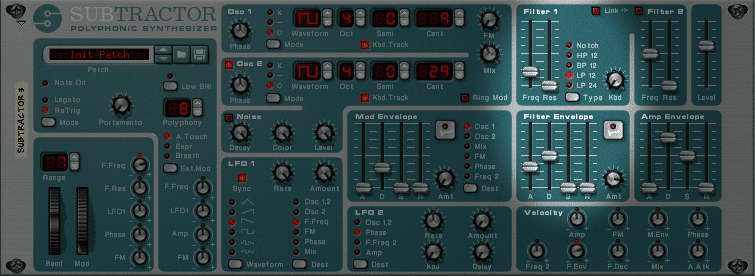 Subtractor Synth Three Filter